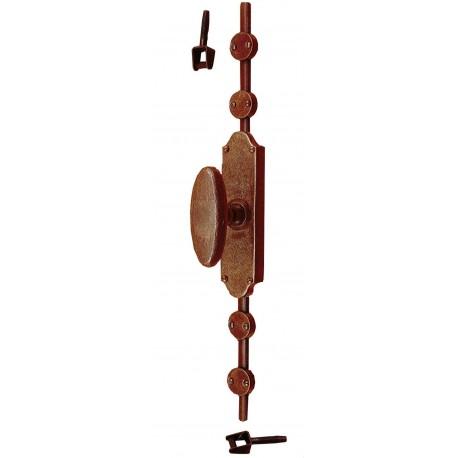 Portacero in ferro con nodo interamente realizzato a mano